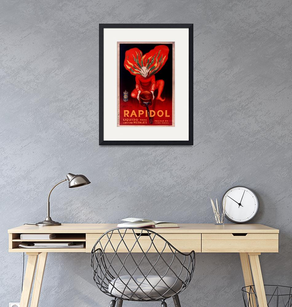 """""""Rapidol Metal Polish by Cappiello Vintage Poster""""  by FineArtClassics"""