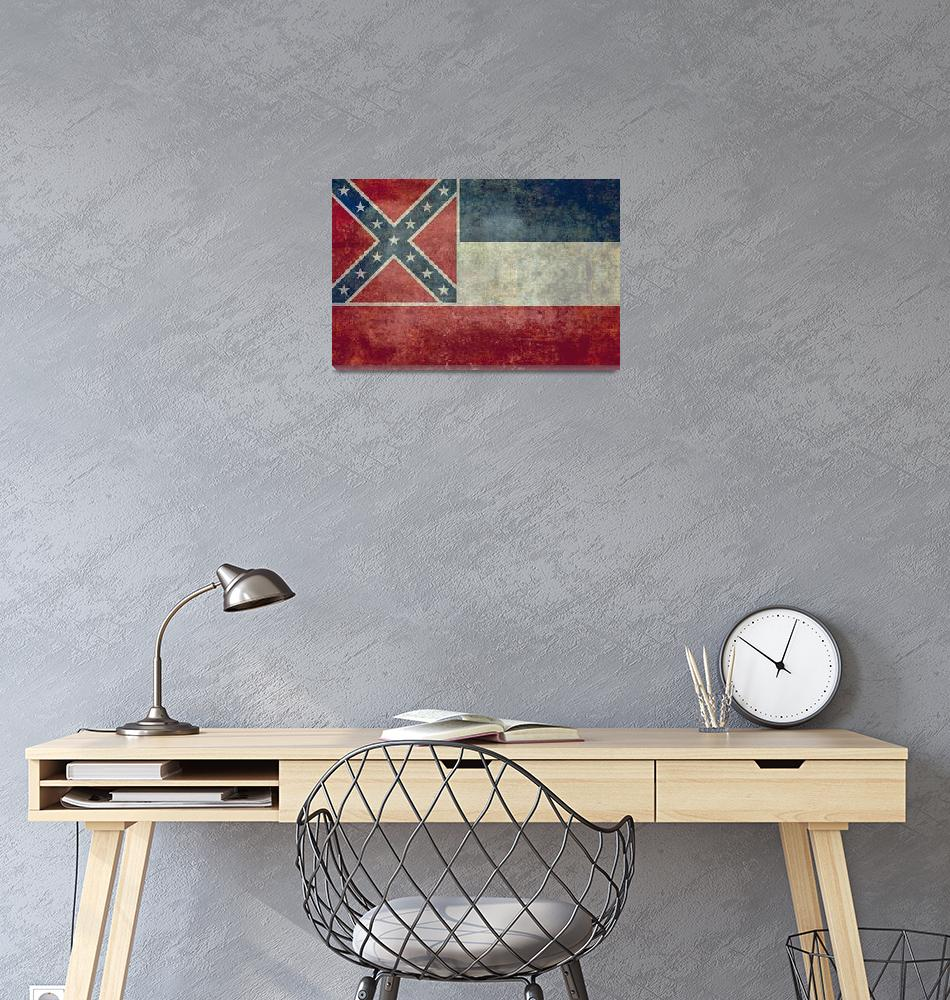 """State flag of Mississippi""  (2013) by BruceStanfieldArtist"