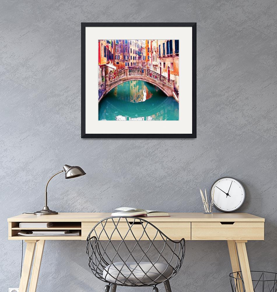 """Small Bridge in Venice""  (2015) by MarianVoicu"