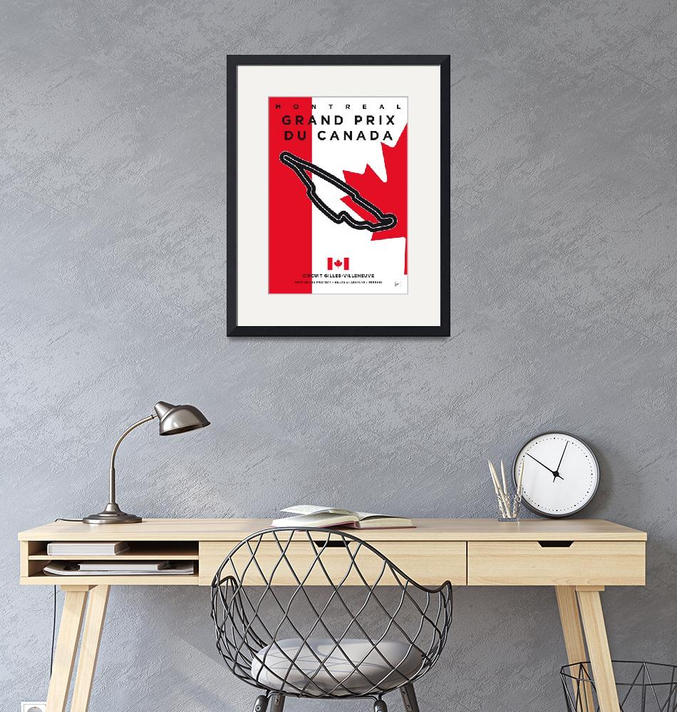 """""""My F1 GILLES-VILLENEUVE Race Track Minimal Poster""""  by Chungkong"""