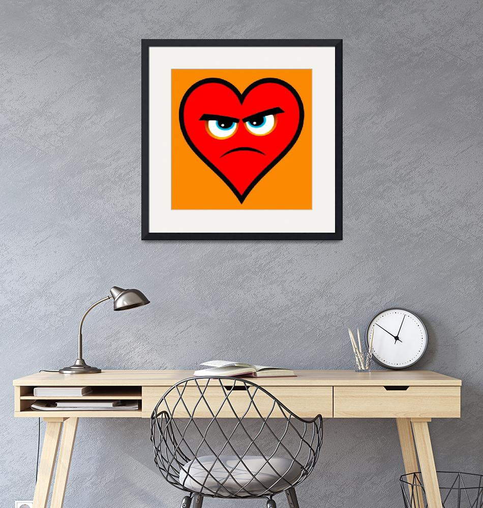 """Heart Series Love Angry Hearts""  (2018) by RubinoFineArt"