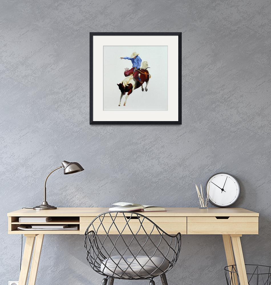 """""""Rodeo Cowboy""""  (2008) by helengould"""