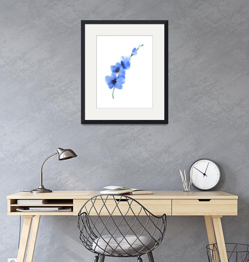 """""""Blue Orchid""""  (2016) by k9artgallery"""