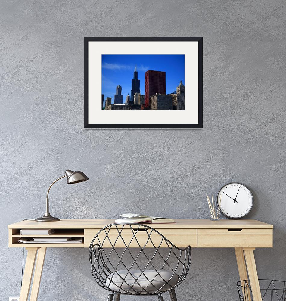 """""""Chicago Skyline 2010 #3""""  (2010) by Ffooter"""