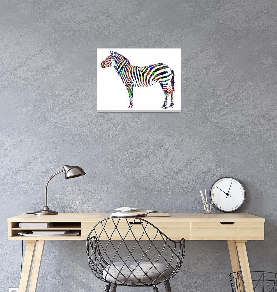 """""""Zebra Study 2""""  (2017) by RubinoFineArt"""