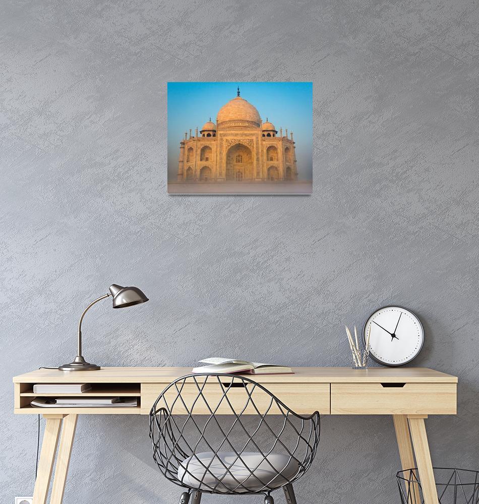 """Glowing Taj Mahal""  (2013) by Inge-Johnsson"