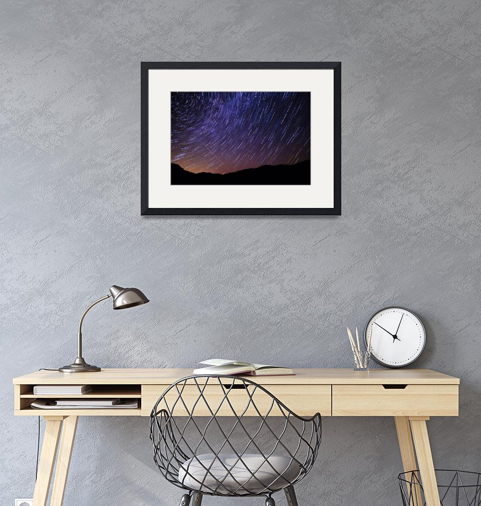 """""""Star Trails and Meteor over Vermont Mountains Phot""""  (2011) by StephsShoes"""