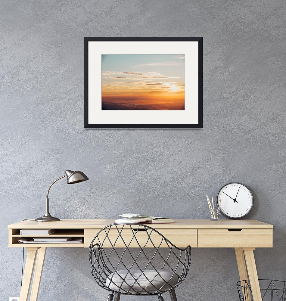 """Sky Photo Framed Print""  by LifeHack"
