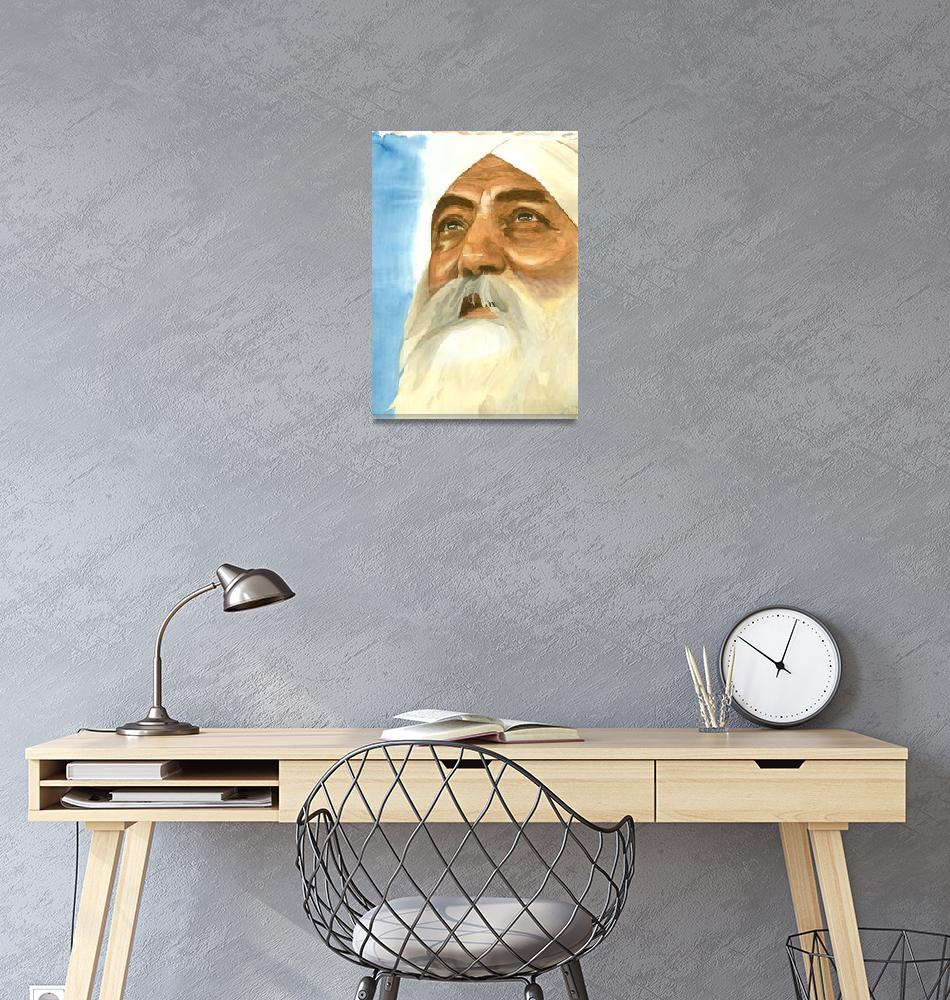 """""""Watching the Flag - Watercolor by Parmatma""""  by SikhPhotos"""