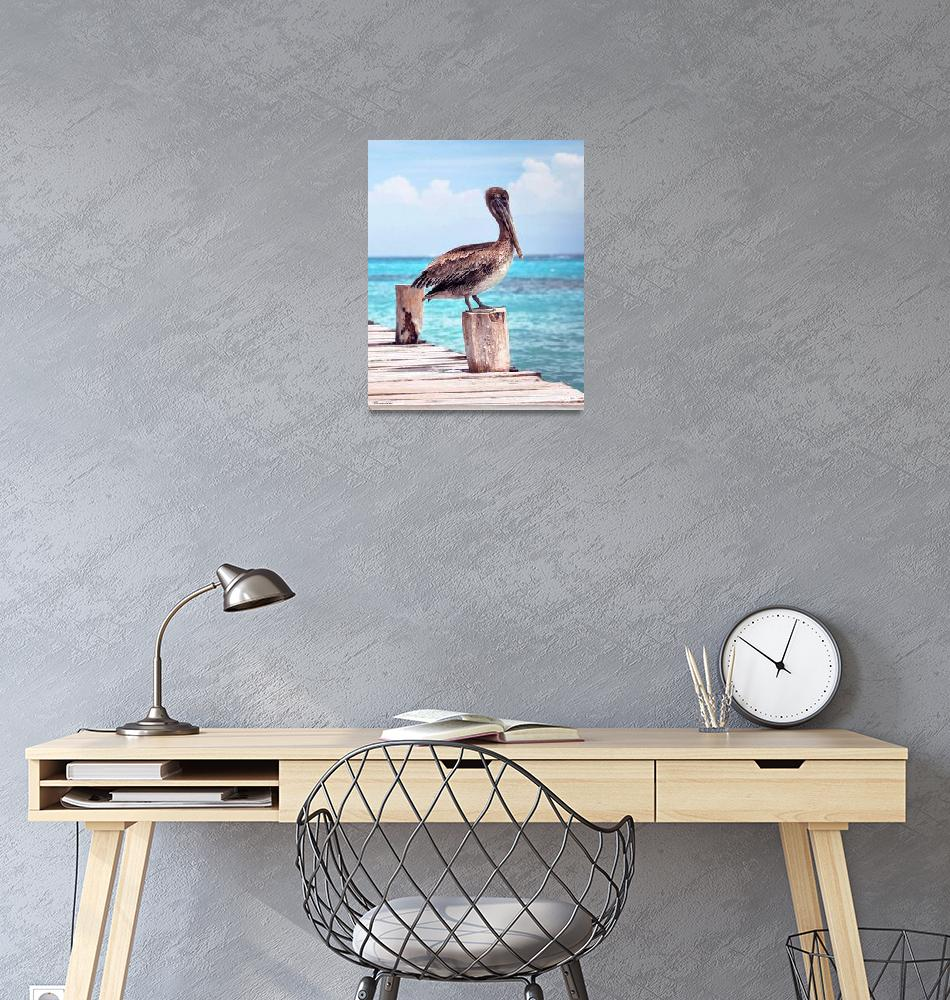 """Pelican Pier Treasure Coast Florida Seascape C1""  (2015) by Ricardos"