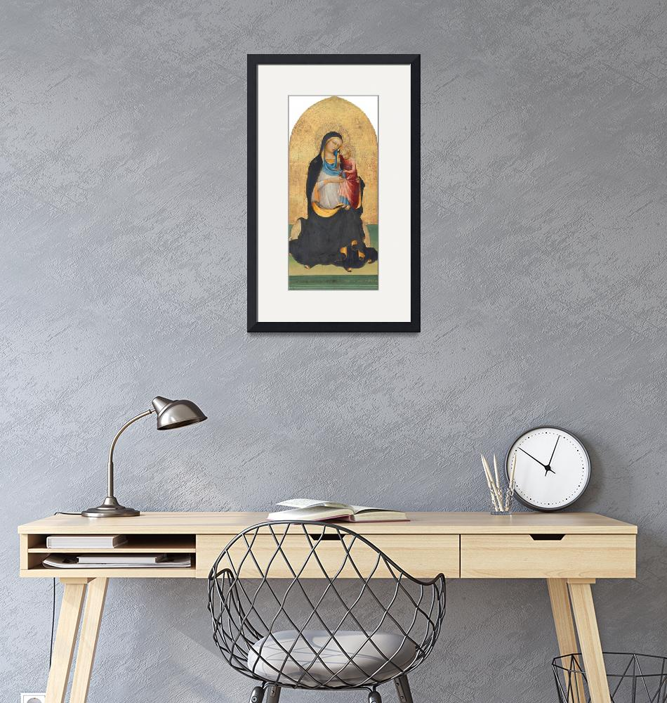 """""""Lorenzo Monaco~Madonna and Child""""  by Old_master"""