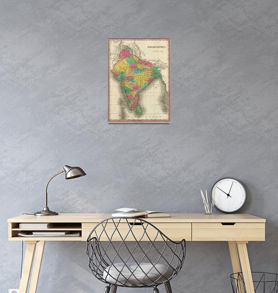"""Vintage Map of India (1831)""  by Alleycatshirts"