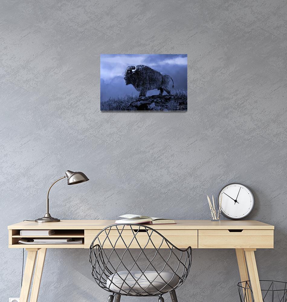 """Blue Bison""  (2015) by spadecaller"