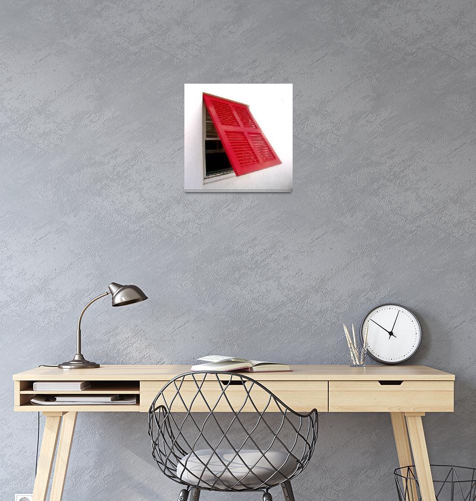 """Red Bermuda Shutters""  (2010) by Montagyoo"