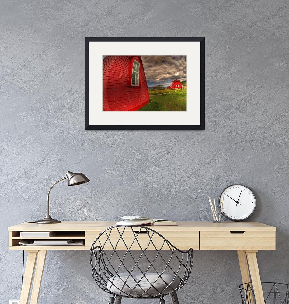 """""""Red lighthouse""""  (2007) by jfdupuis"""