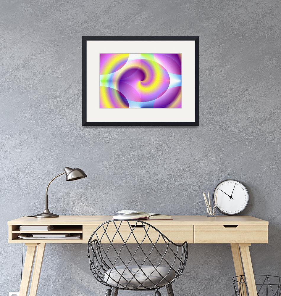 """spiral-digital-print""  (2009) by the-creative-artist"