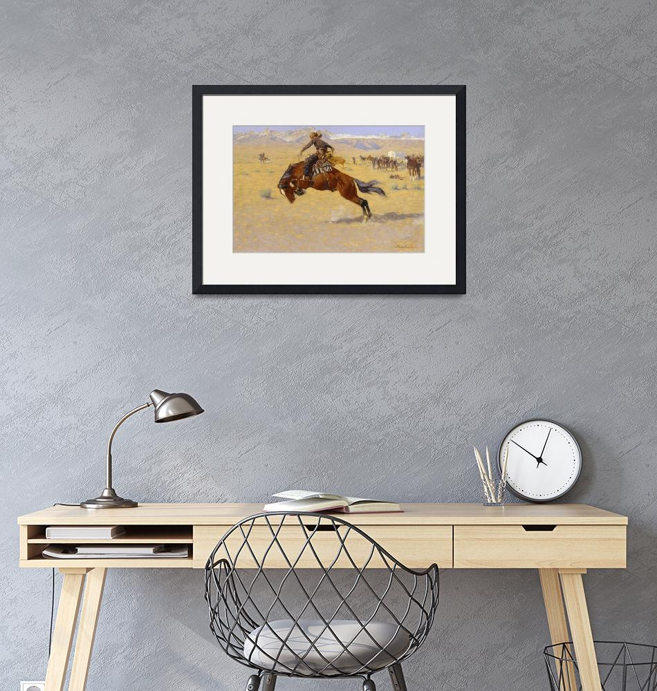 """A Cold Morning on the Range by Frederic Remington""  by fineartmasters"