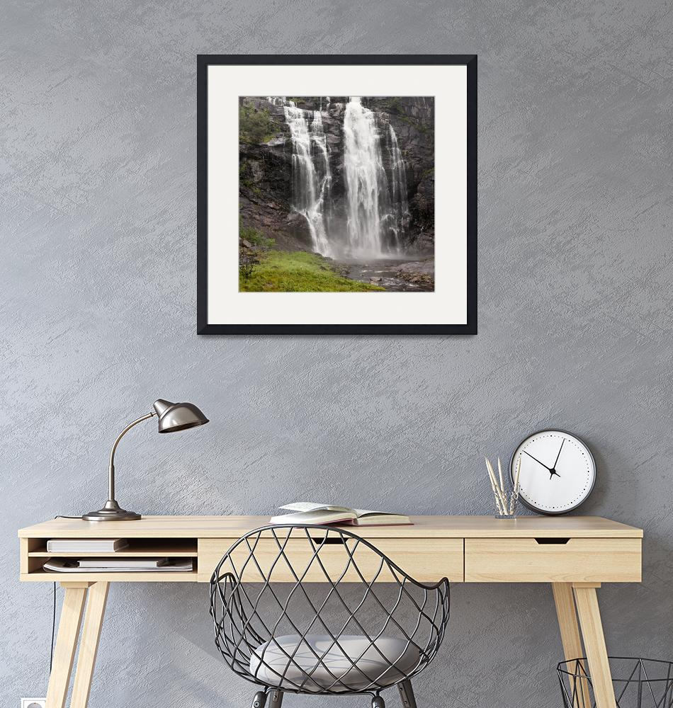 """Waterfalls Over A Cliff Norway""  by DesignPics"