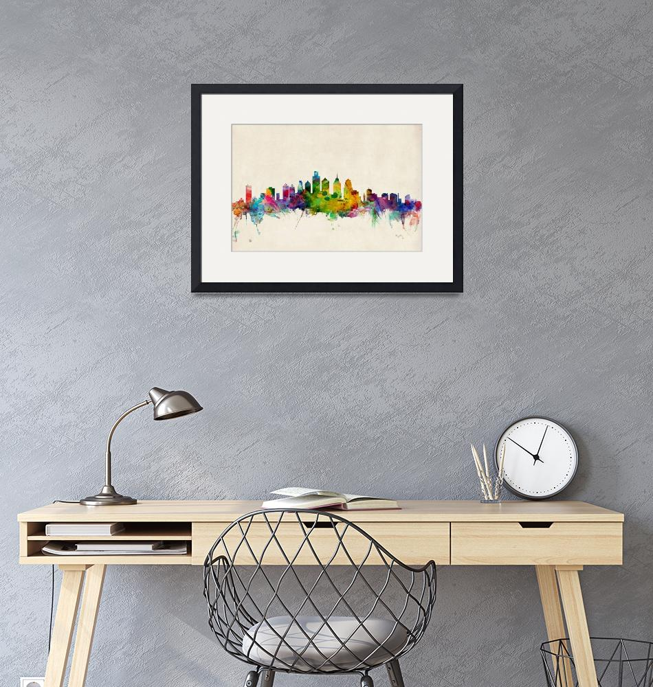 """Philadelphia Pennsylvania Skyline""  (2013) by ModernArtPrints"
