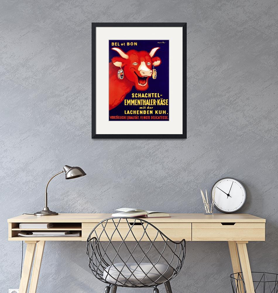 """""""Laughing Cow Cheese Vintage Poster"""" by FineArtClassics"""