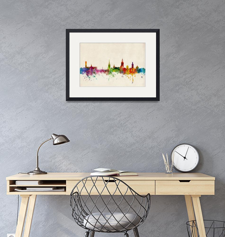 """Stockholm Sweden Skyline""  by ModernArtPrints"