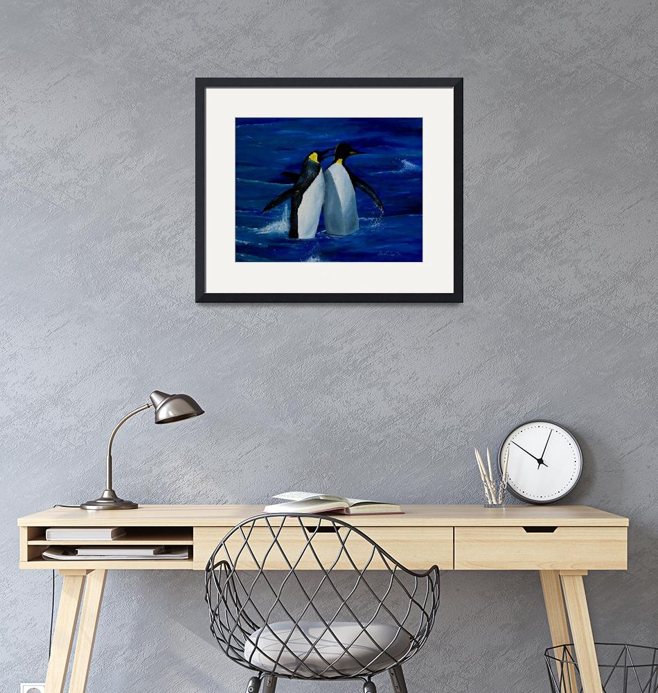 """""""Penguins""""  (2002) by Symbaluna"""