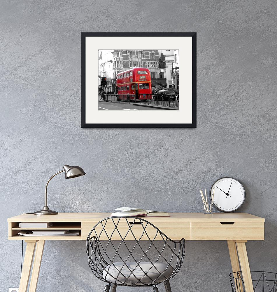 """A Traditional London Bus""  by JacqiBartlett"