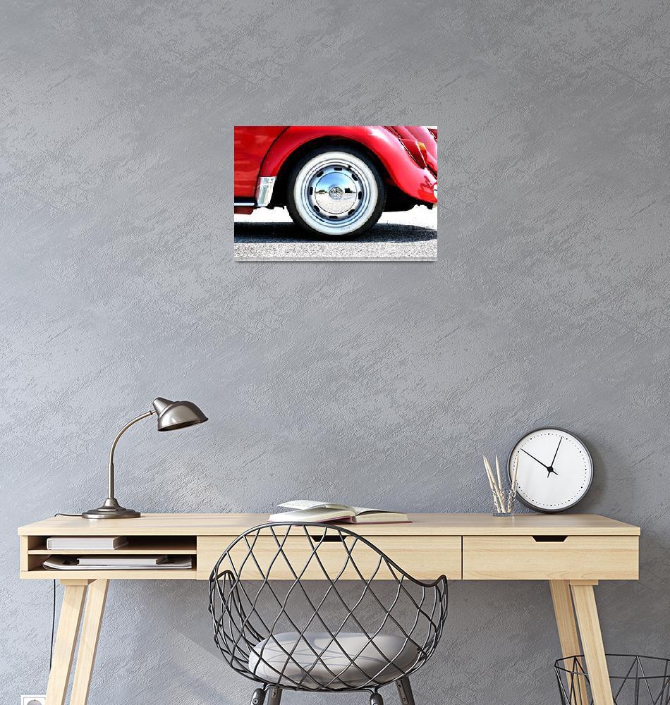 """1965 VW Beetle cabriolet - wheel detail""  (2012) by getshaped"