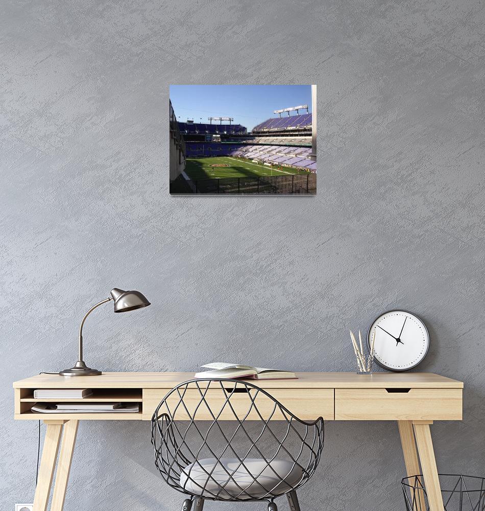 """M & T Bank Stadium (Baltimore Ravens Football), Ma""  by Artsart"