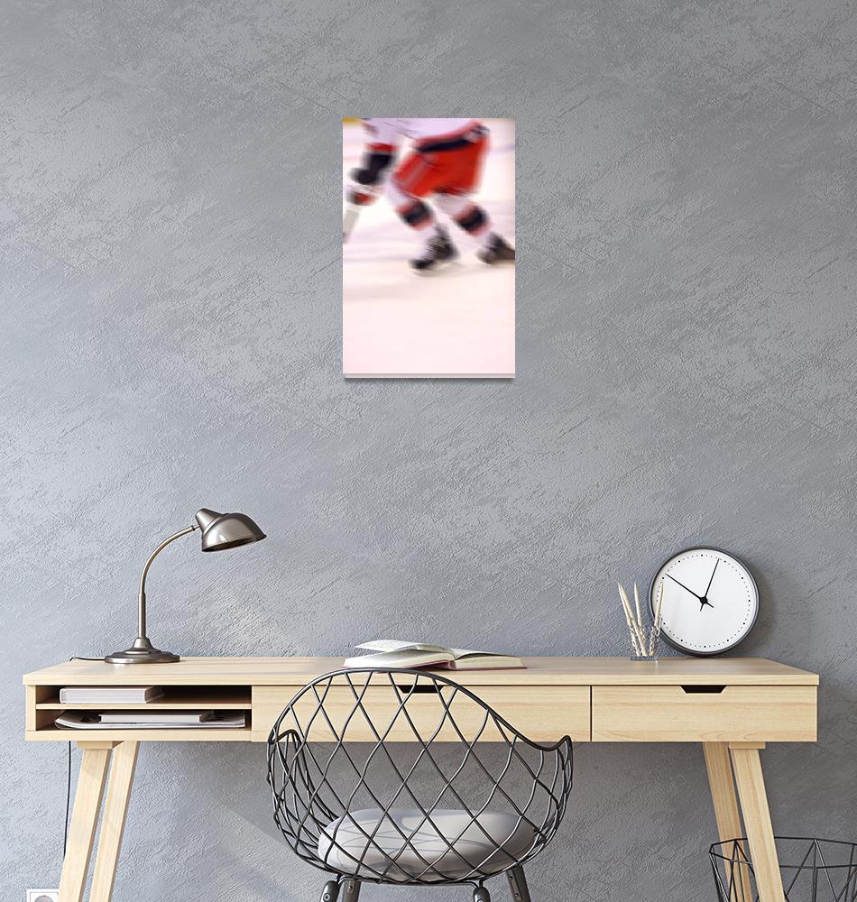 """The Speed of Hockey""  (2009) by karolsstuff"