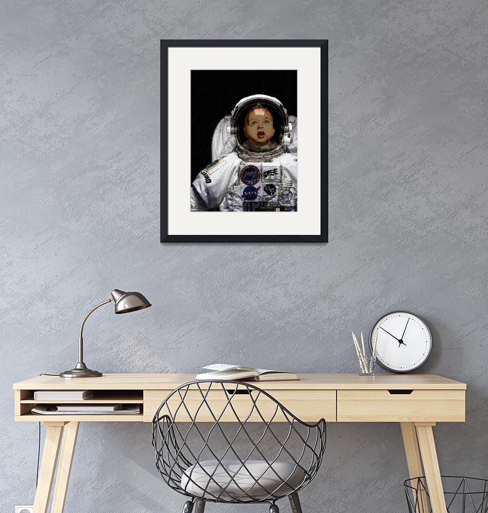 """""""Space Baby"""" (2018) by RubinoFineArt"""