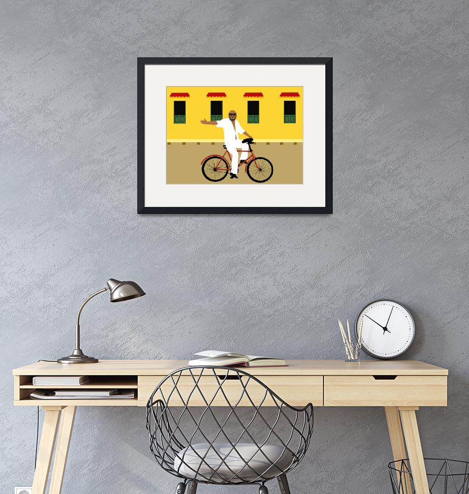 """""""A man on a bicycle.""""  by Design4uStudio"""