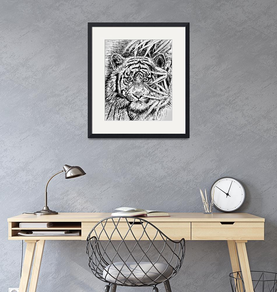 """""""King Of The Jungle In Black And White""""  by GittaG74"""