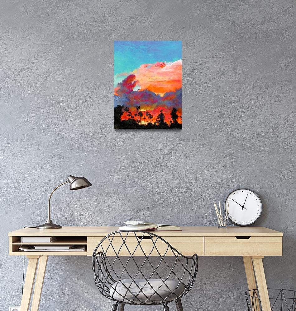 """Sunset at Texas Canyon San Diego California""  (2007) by RDRiccoboni"