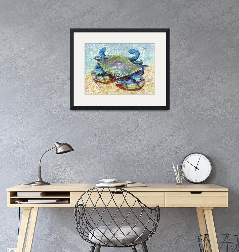 """Blue Crab-pastel colors""  by HaileyWatermedia"