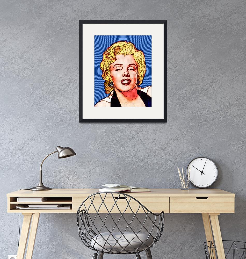 """""""Marilyn Monroe - Color -Circles""""  (2011) by Automotography"""