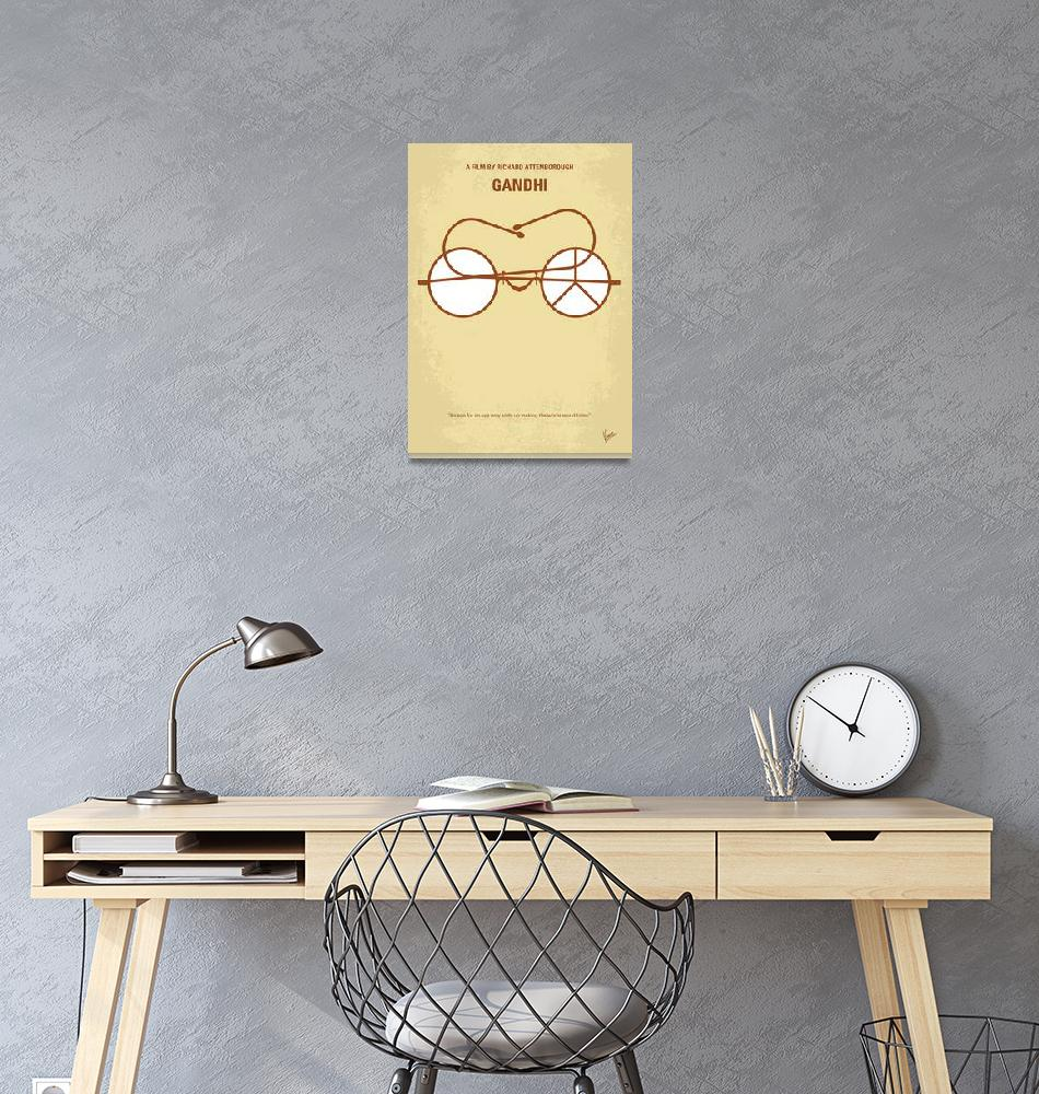 """""""No543 My Gandhi minimal movie poster""""  by Chungkong"""