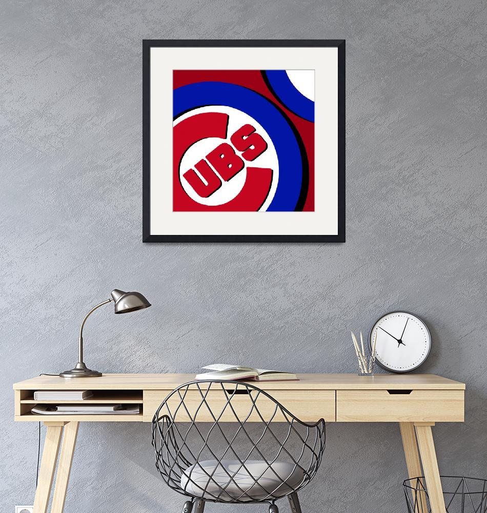 """""""Chicago Cubs Football""""  (2016) by RubinoFineArt"""