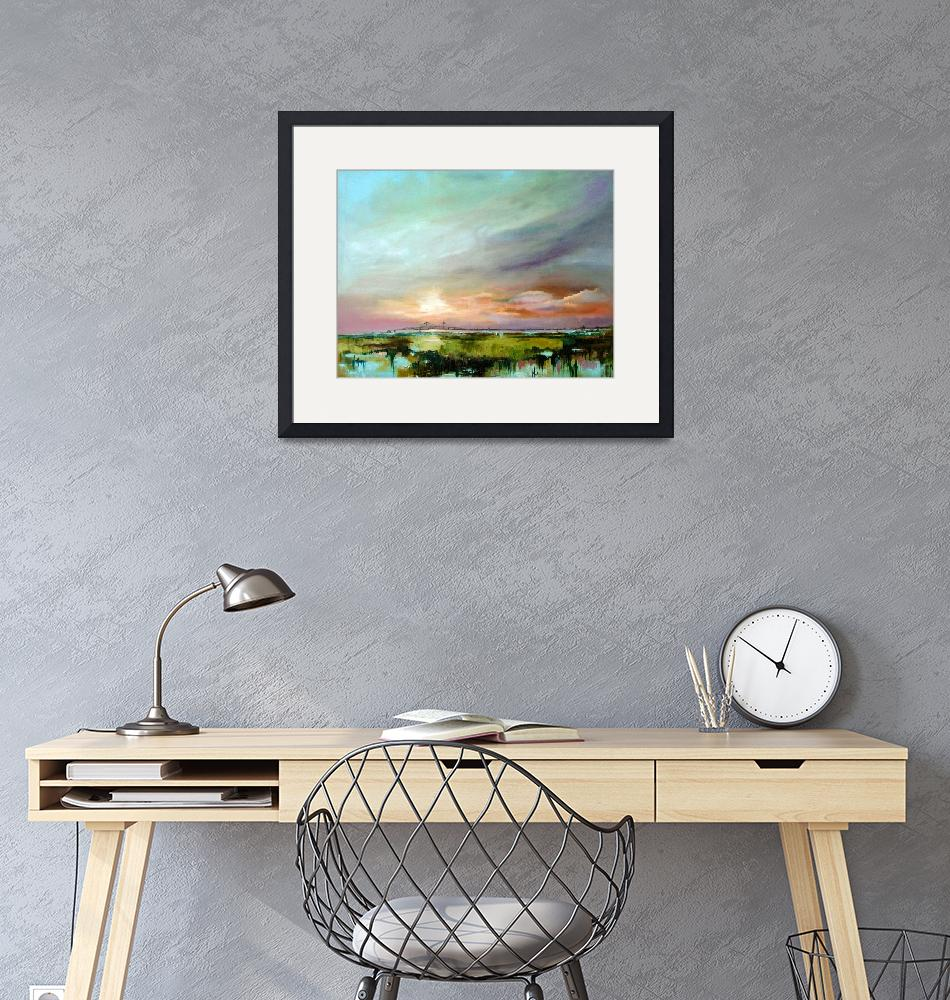"""""""Salt Marsh Sunset Original Oil Painting by Ginette""""  (2004) by GinetteCallaway"""