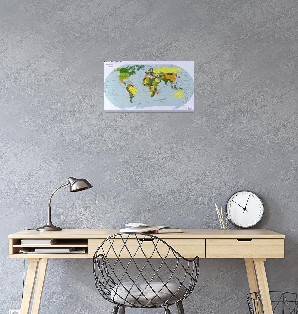 """Map of The World (1998)""  by Alleycatshirts"