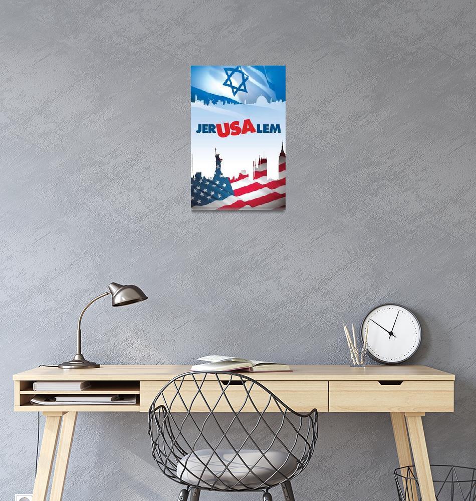 """Jer-USA-lem""  (2009) by PostersOfIsrael"