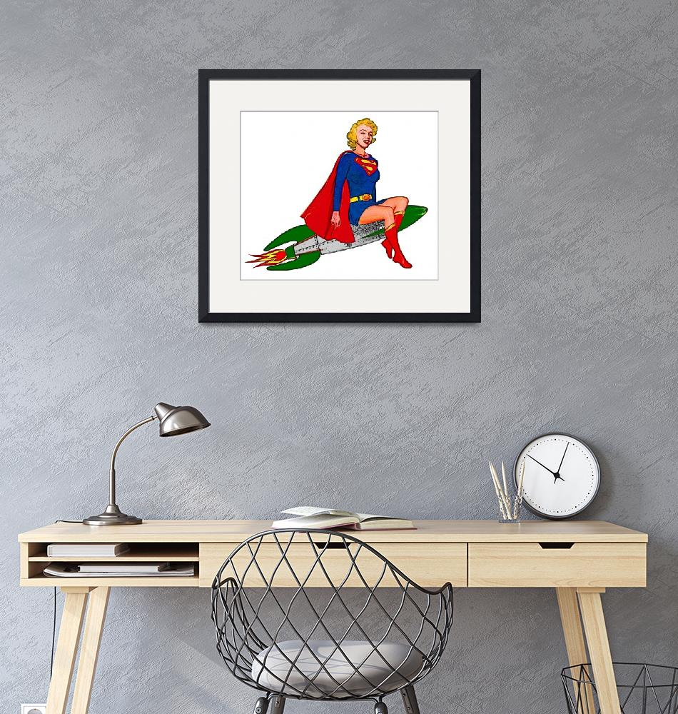 """""""Supergirl Riding Rocket"""" (2015) by Automotography"""