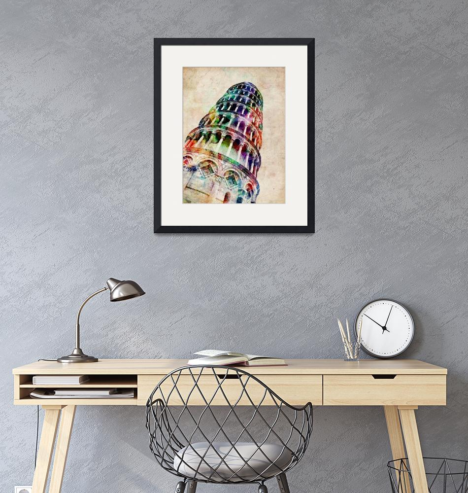 """Leaning Tower of Pisa""  (2012) by ModernArtPrints"