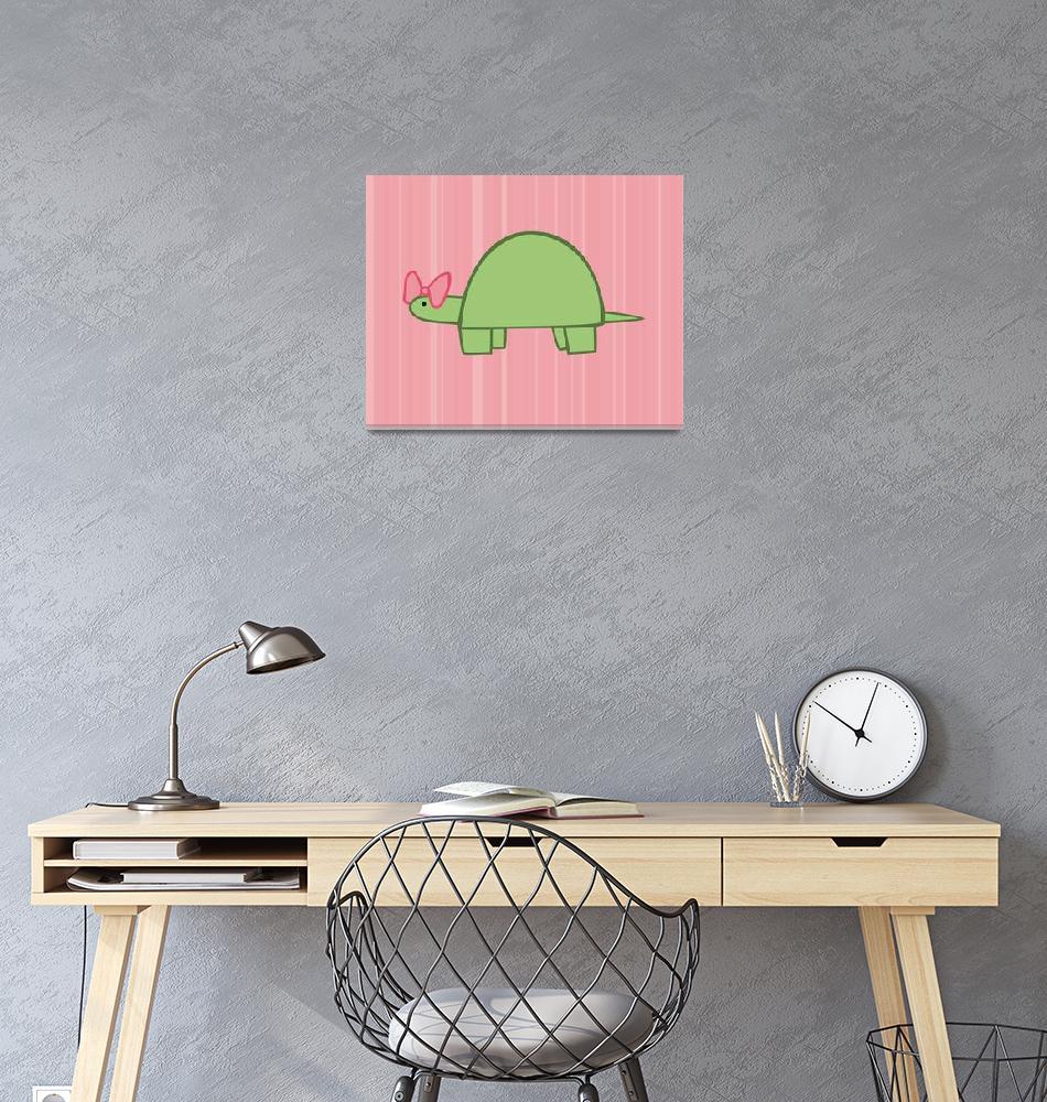 """""""Girl Turtle Nursery Art""""  (2011) by ChristyBeckwith"""