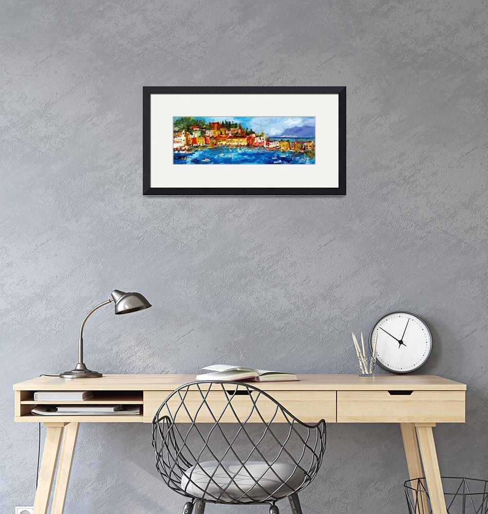 """Abstract Panoramic Italian Seascape Sestri Levante""  (2013) by GinetteCallaway"