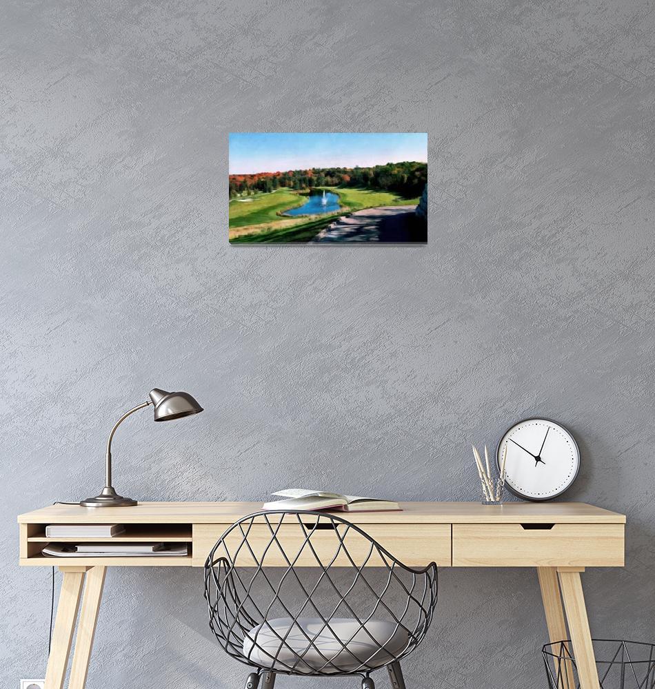"""Copper Creek Golf Course""  (2018) by LeftHandPrints"