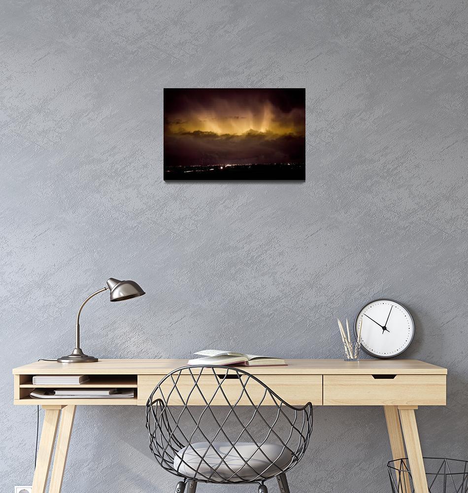 """Lightning Cloud Burst Boulder County Colorado IM29""  (2011) by lightningman"