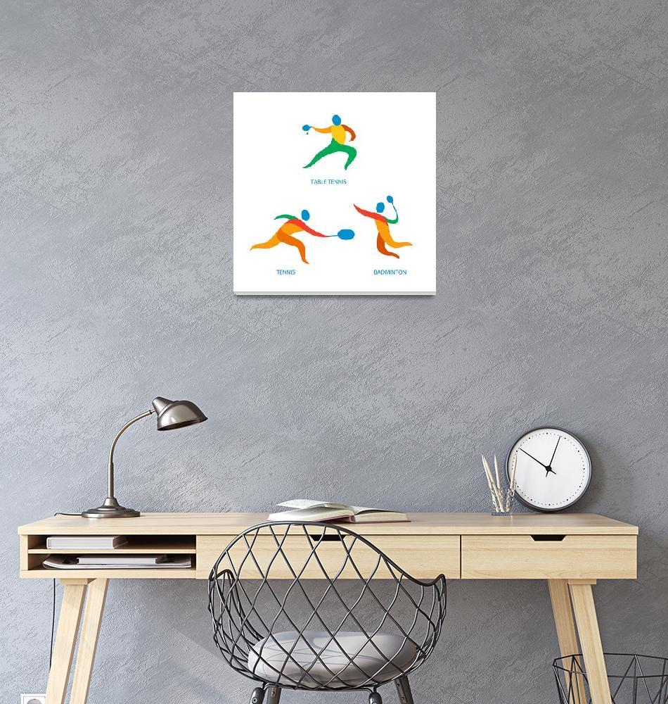 """""""Table Tennis Badminton Icon""""  (2015) by patrimonio"""