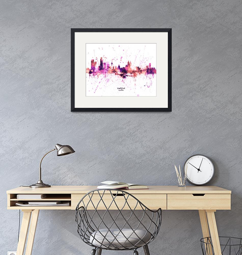 """Liverpool England Skyline""  (2019) by ModernArtPrints"