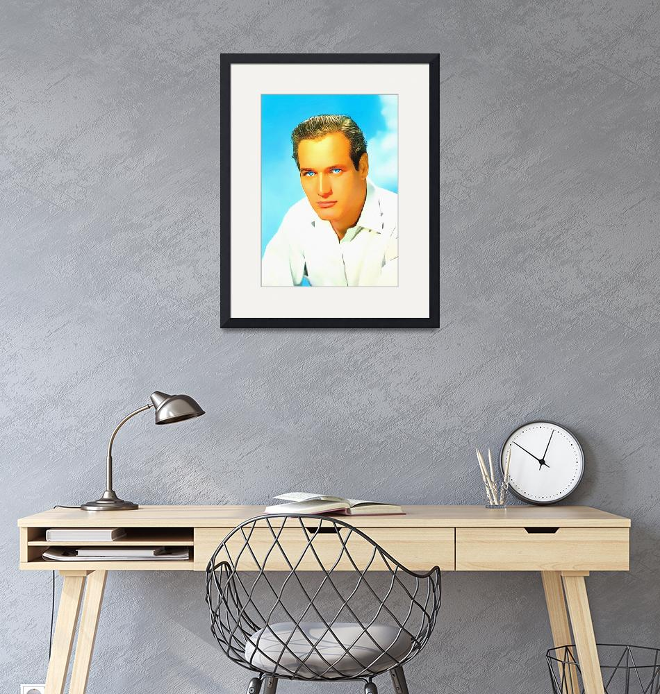 """""""Paul Newman""""  (2013) by ArtCinemaGallery"""